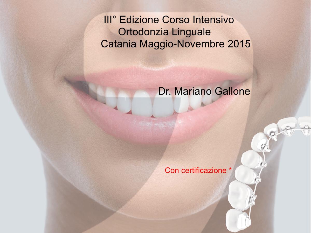 Corso Ortodonzia Linguale 2015